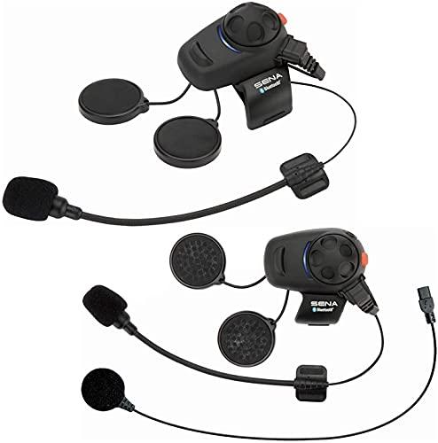 Sena SMH5D-UNIV Bluetooth Headset- und Gegensprechanlage für Motorroller und Motorräder mit Universal-Mikrofonsatz, Doppelpack - 2