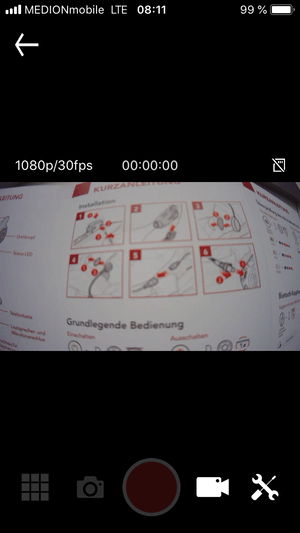 Sena 10c Pro Test Kamera App IOS Betriebssystem