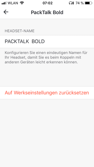 Cardo Packtal Bold & Slim Test App Screenshot